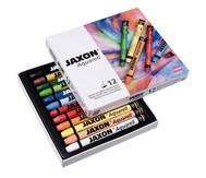 Jaxon Aquarell Wachspastelle, 12 Farben