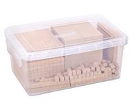 RE-WOOD® Zehnersystemsatz, 121 Teile,  in Stapelbox