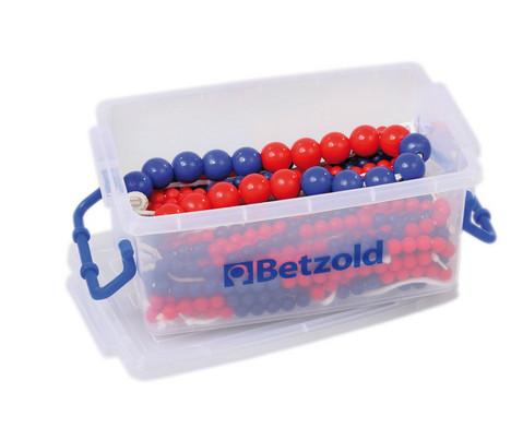 28 Rechenketten 1 Demokette jeweils 5 blau-5 rot-5 blau-5 rot
