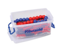 28 Rechenketten, 1 Demokette jeweils 5 blau/5 rot/5 blau/5 rot