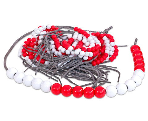 28 Rechenketten 1 Demokette jeweils 5 rot-5 weiss-5 rot-5 weiss-2