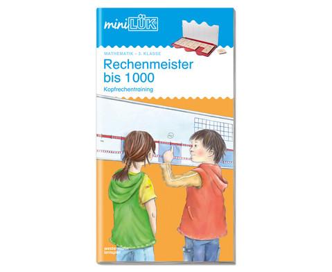 miniLUEK-Heft Rechenmeister bis 1000-1