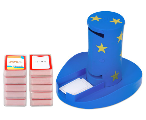 Magischer Zylinder mit 10 Karten-Sets zum Rechnen im 1 Schuljahr