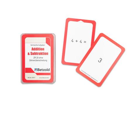 Kartensatz zum magischen Zylinder Addition-Subtraktion bis 20 ohne Zehnerueberschreitung-1