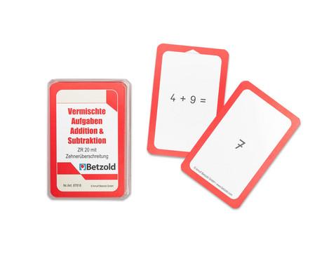 Kartensatz zum magischen Zylinder Addition-Subtraktion bis 20 mit Zehnerueberschreitung-1