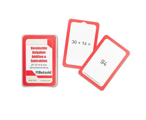 Kartensatz zum magischen Zylinder Addition-Subtraktion bis 100 mit und ohne Zehnerueberschreitung-1