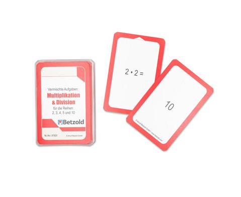 Kartensatz zum magischen Zylinder - Multiplikation-Division