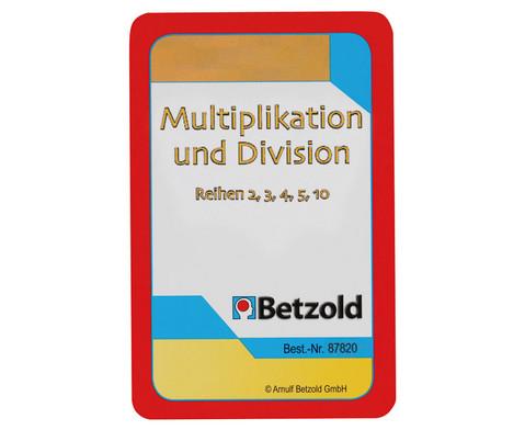 Kartensatz zum magischen Zylinder Multiplikation-Division Reihen 2 3 4 5 10-1
