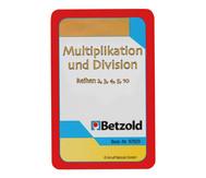Kartensatz zum magischen Zylinder: Multiplikation/Division, Reihen 2, 3, 4, 5, 10
