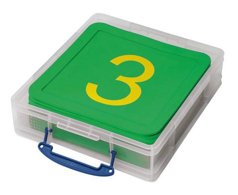 edumero Zahlenmatten, 21 Stück in stabiler Box