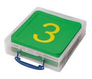 Zahlenmatten, 21 Stück in stabiler Box