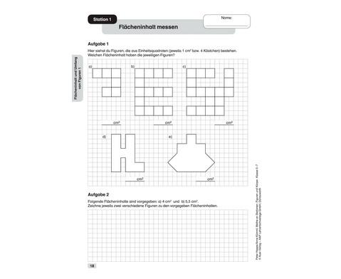 Mathe an Stationen spezial - Figuren und Koerper Klasse 5 - 7-3
