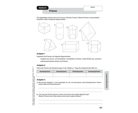 Mathe an Stationen spezial - Figuren und Koerper Klasse 5 - 7-9