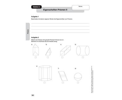 Mathe an Stationen - Figuren und Koerper Klasse 8-10-2