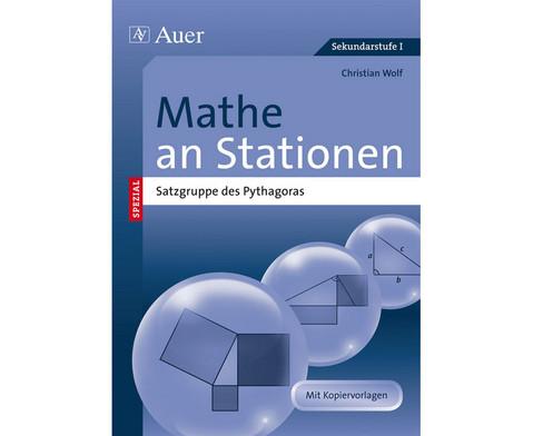 Mathe an Stationen Satzgruppe des Pythagoras