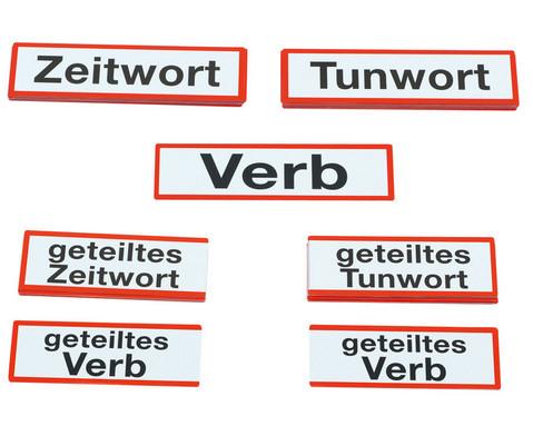 Magnetische Wortartenkarten fuer die Stahltafel