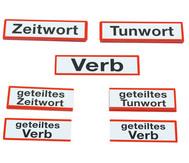 Magnetische Wortartenkarten für die Stahltafel