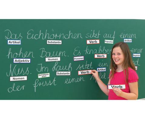 Magnetische Wortartenkarten fuer die Stahltafel-9