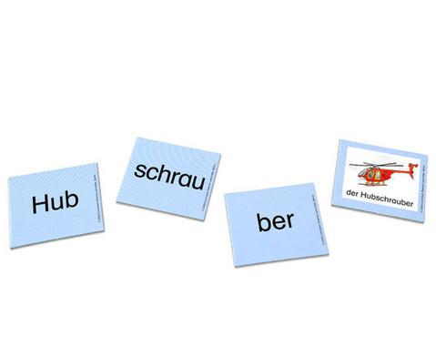 Kartensatz zum Leseturm Dreisilbige Woerter-2