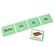 Kartensatz zum Leseturm: Viersilbige Wörter
