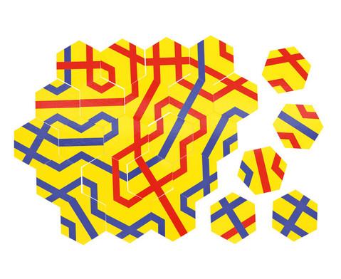 Betzold Streckenpuzzle mit 18 sechseckigen Karten