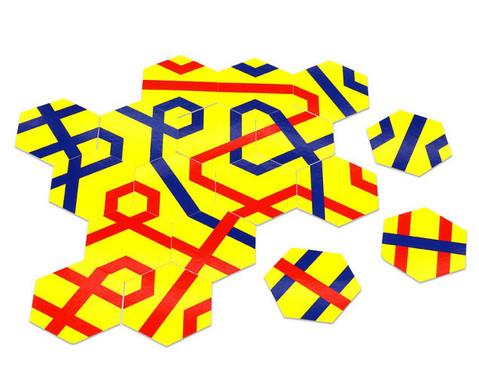 Streckenpuzzle mit 18 sechseckigen Karten-3