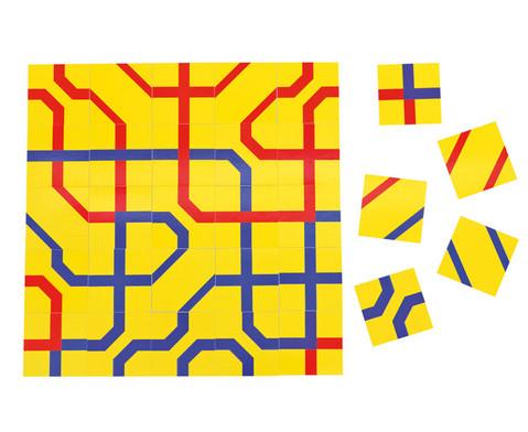Streckenpuzzle mit 12 quadratischen Karten-1