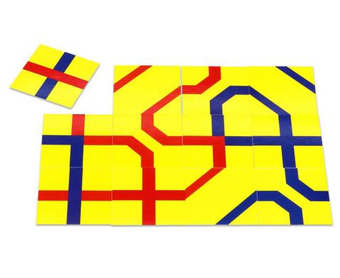 Streckenpuzzle mit 12 quadratischen Karten-2