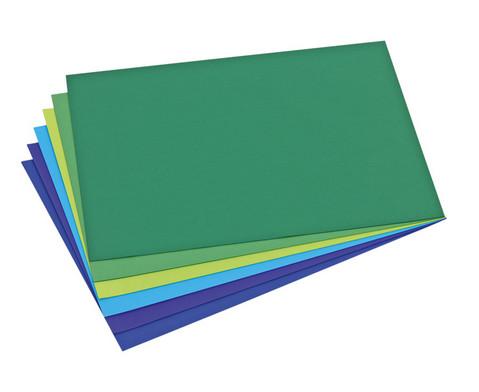 Schulset Tonpapier Set 2 Blau- und Gruentoene