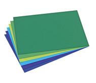 Tonpapier Blau- und Grüntöne, 480 Bogen