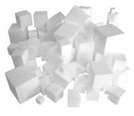 Styroporwürfel, Set mit 100 Stück