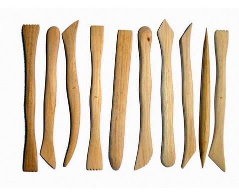 Modellierhoelzer Set mit 10 Stueck-1