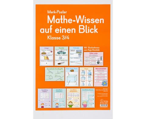 Mathe-Wissen auf einen Blick - Klasse 3-4-1