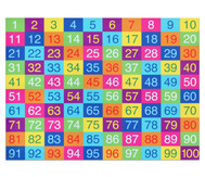 Farbenfroher Hunderter-Teppich