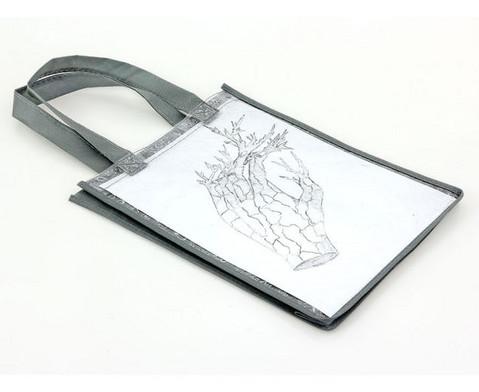 Tasche A4 Hochformat grau-6