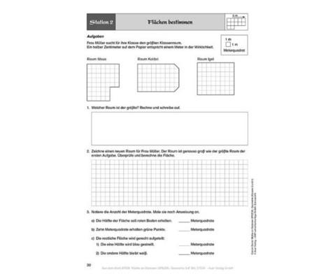Mathe an Stationen - Geometrie Klasse 3 und 4-4