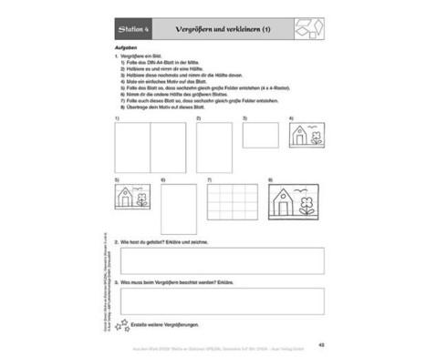 Mathe an Stationen - Geometrie Klasse 3 und 4-5