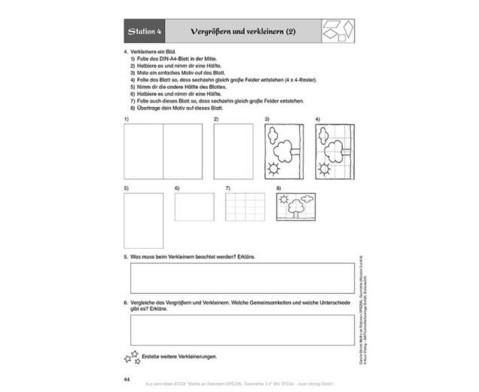 Mathe an Stationen - Geometrie Klasse 3 und 4-6