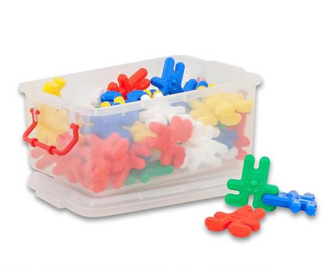 Bausatz mit Hasen-Formen in Plastikbox