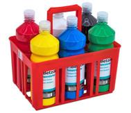Temperafarben im Flaschenträger