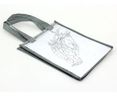 Tasche A4 Hochformat grau-4