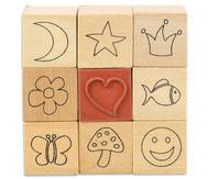 Symbol Stempel, Set mit 9 Stück