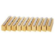 Satz mit 10 Bass-Klangbausteinen und 10 Schlägeln, Leichtmetall