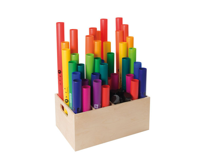 aufbewahrungsbox f r boomwhackers. Black Bedroom Furniture Sets. Home Design Ideas