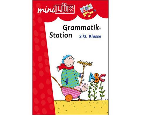 miniLUEK-Heft Grammatikstation 2-3 Klasse-1