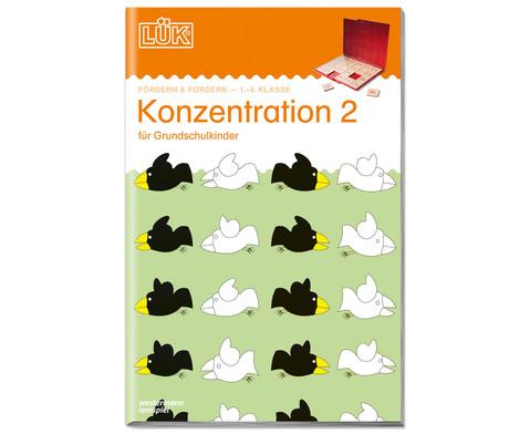 LUEK Konzentration fuer 1 - 4 Klasse