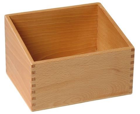 Holzbox fuer 30 Fuehl- und Tastplatten