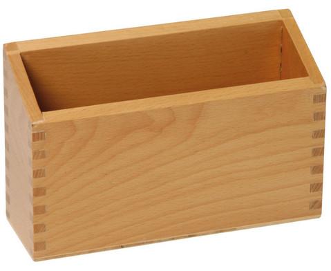 Holzbox fuer 10 Fuehl- und Tastplatten