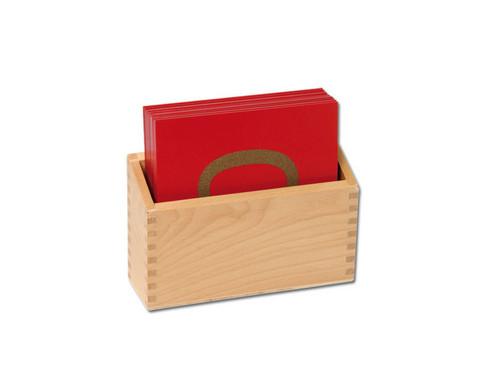 Betzold Fuehl- und Tastplatten Ziffern in Holzbox