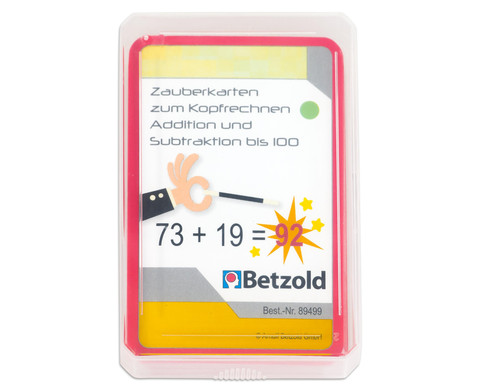 Betzold Zauberkarten Addition und Subtraktion bis 100